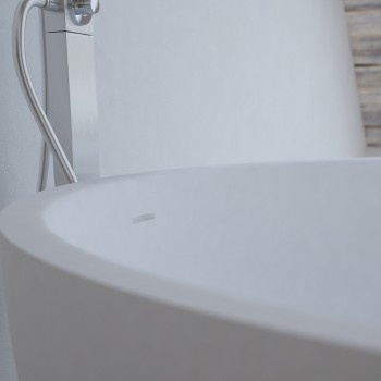 Freistehende Badewanne aus Mineralguss Lyon 135cm