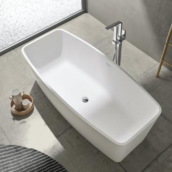 Freistehende Badewanne aus Mineralguss Monaco