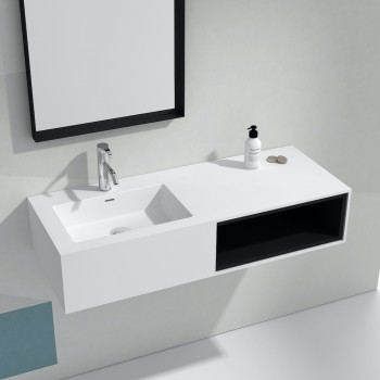 Wandbadezimmermöbel mit Waschbecken Petunia - 1 Nische