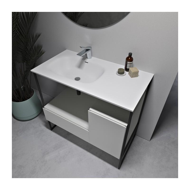 Waschtisch Mineralguss Badezimmermobel Amsterdam In Mdf