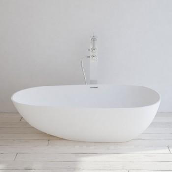 Freistehende Badewanne aus Mineralguss Toulouse 170cm