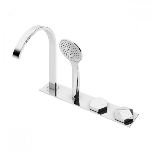 Progressive auf dem Boden montierte Badewanne / Dusche-Mixer BRUMA - 1834502CR