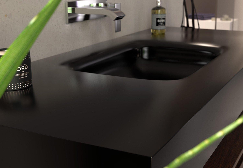 black deep corian