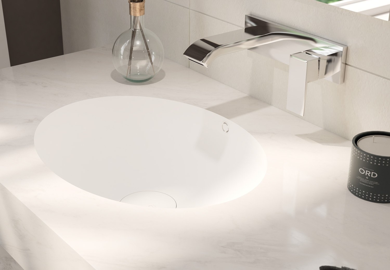 vasque simple corian