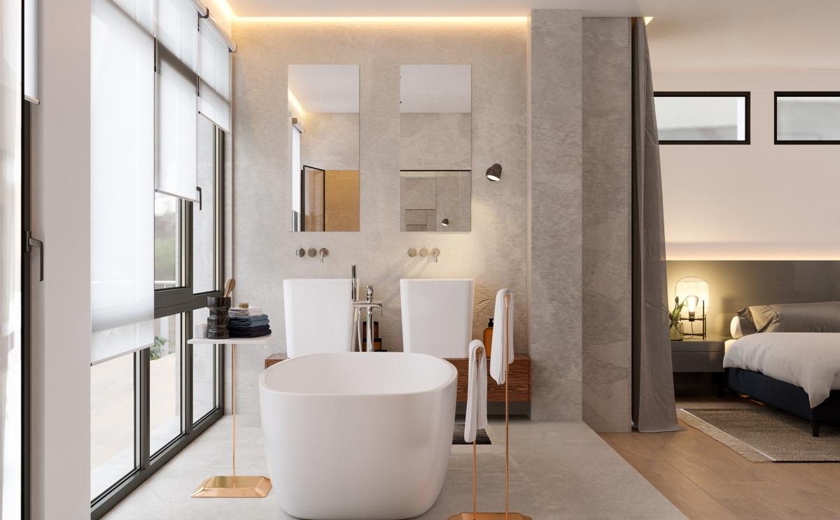 Blog   Offene Schlaf  und Badezimmer der heißeste ...