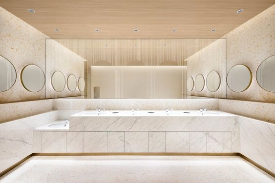 Shanghai Times square bathroom by Nendo